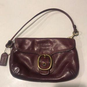 Coach // Vintage leather wristlet